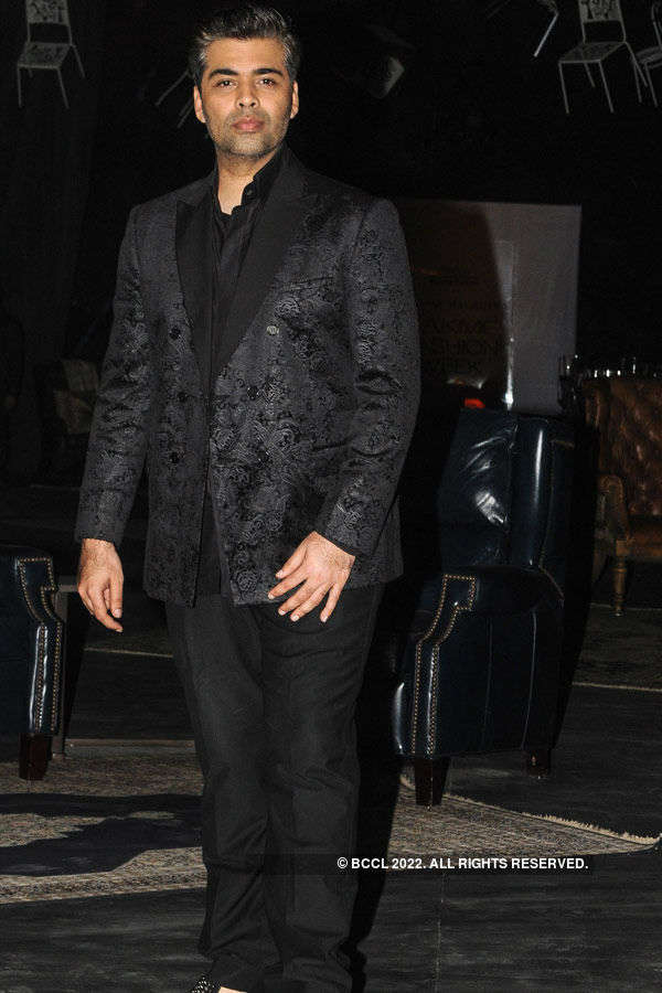 Karan Johar during the Lakme Fashion