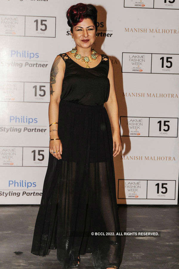 Hard Kaur during the Lakme Fashion