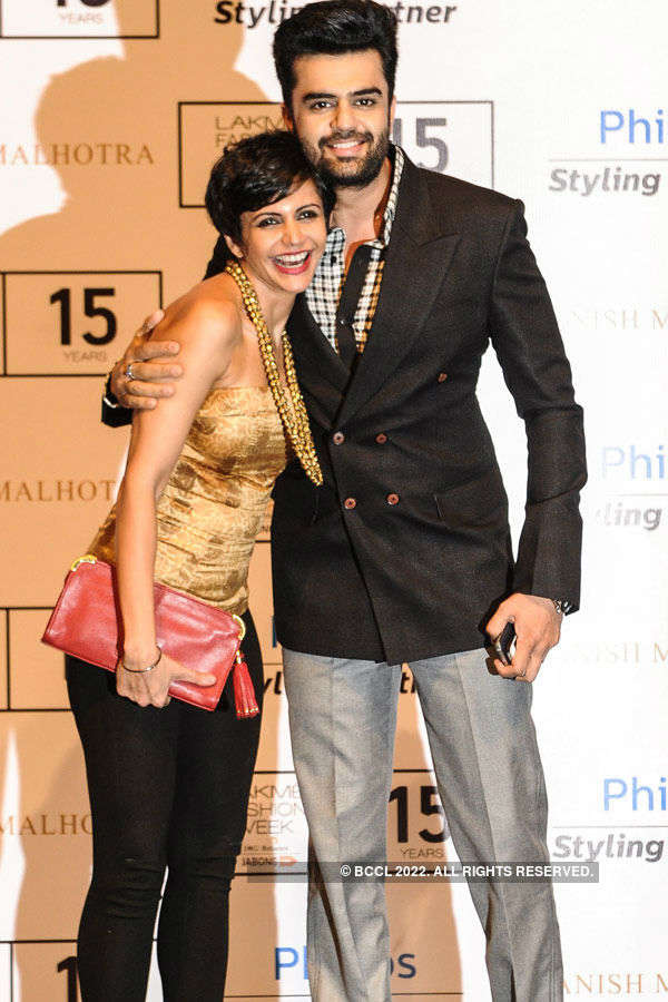 Mandira Bedi with Manish Paul