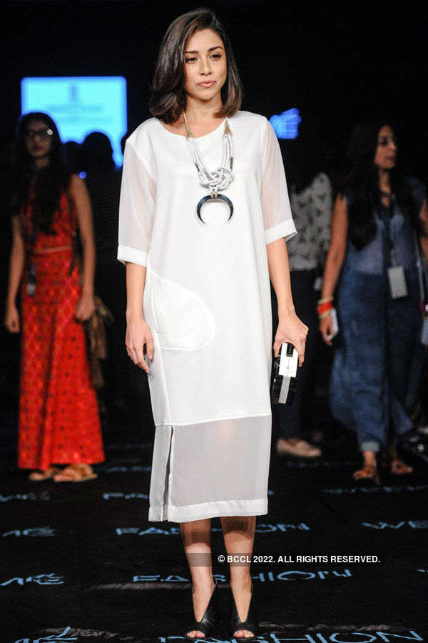 Amrita Puri during the Lakme Fashion