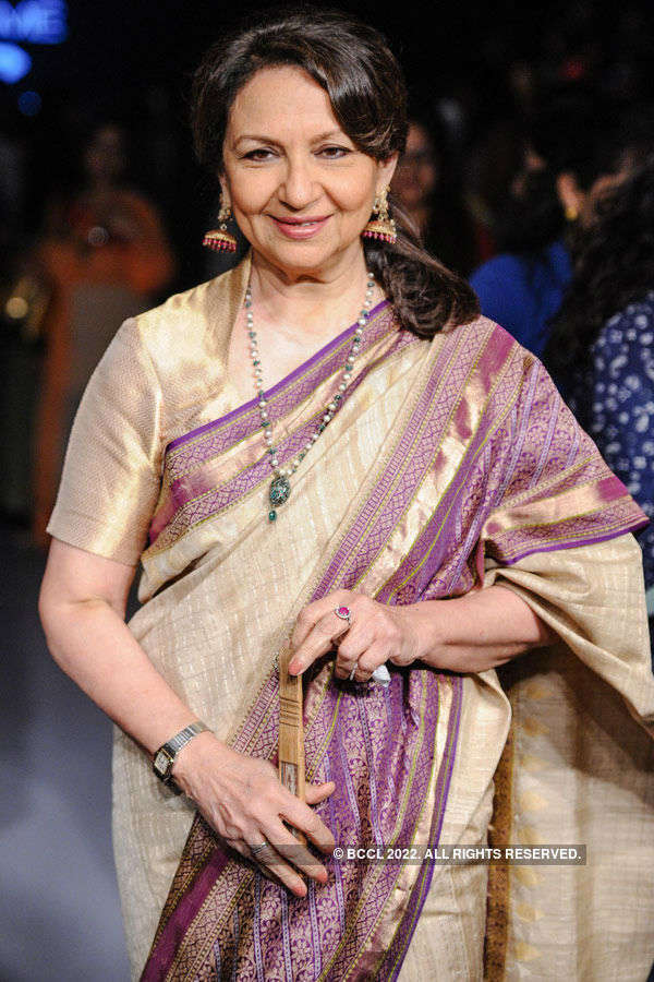Sharmila Tagore during the Lakme Fashion