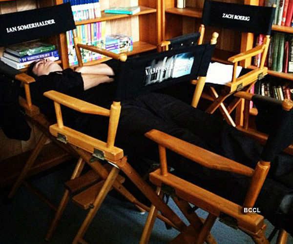 Celebs caught sleeping
