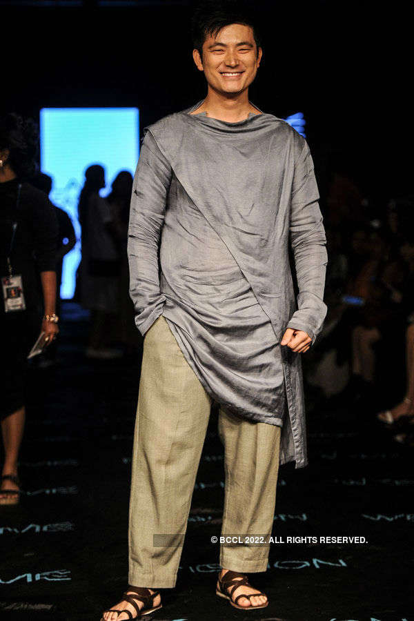 Meiyang Chang during the Lakme Fashion