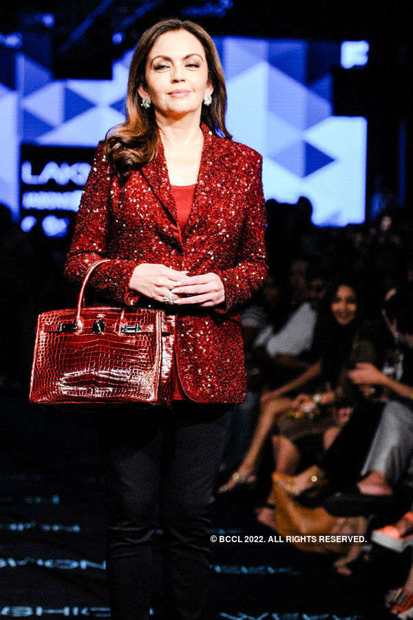 Nita Ambani during the Lakme Fashion