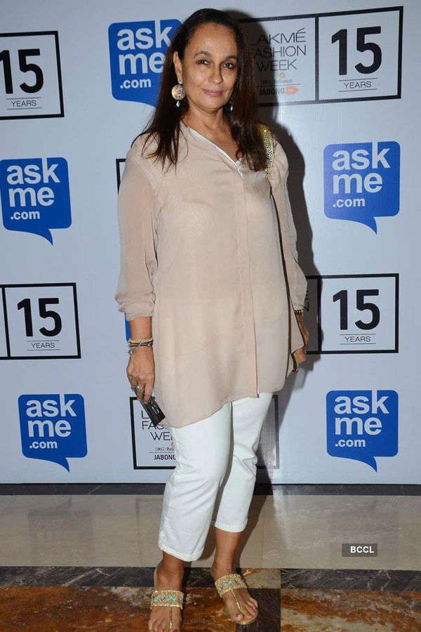 Soni Razdan during the Lakme Fashion