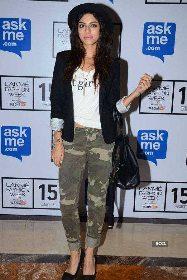 Sapna Pabbi poses during the Lakme