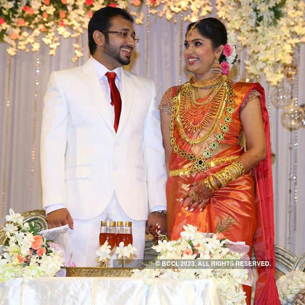 Muktha and Rinku Tomi's wedding reception