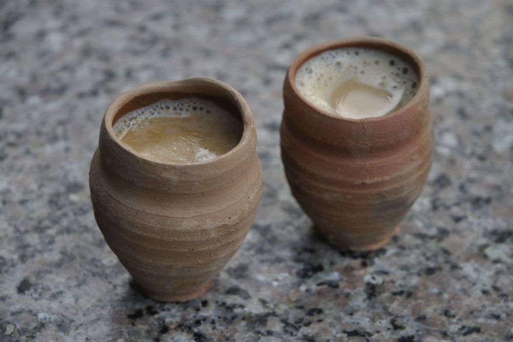 Chai in earthen cups