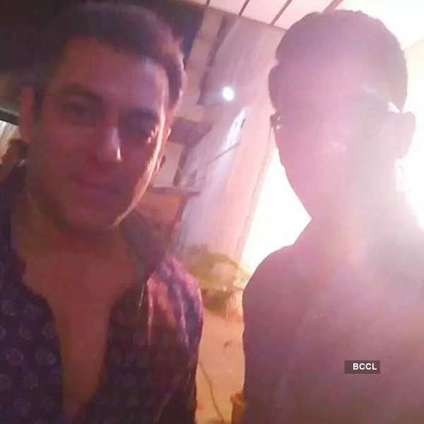 Actor Salman Khan on the sets