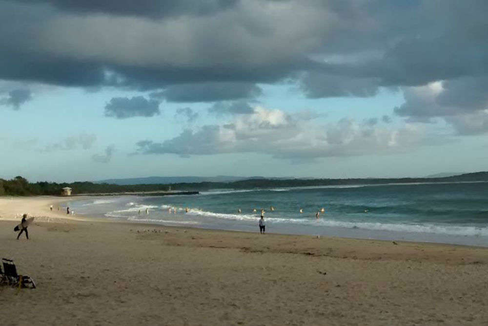 Surfing in Noosa's waters