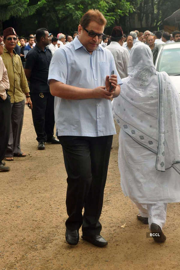 Karim Morani's mother's funeral