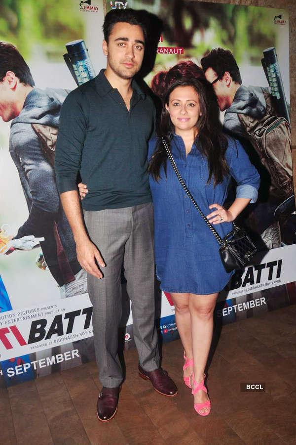 Imran Khan and Avantika Malik Khan during the screening
