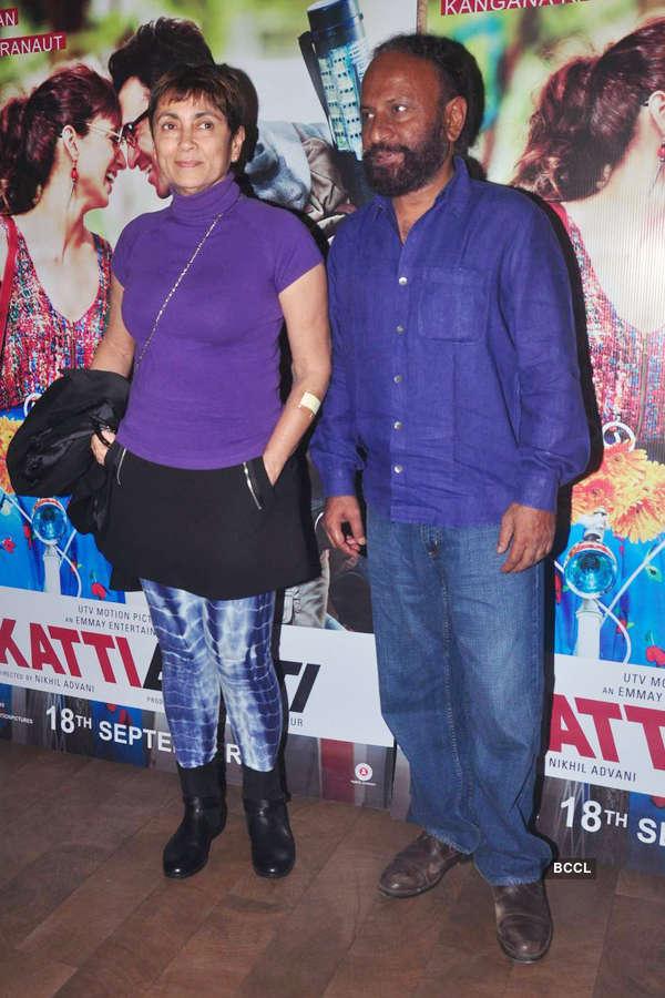 Deepa Sahi and Ketan Mehta during the screening
