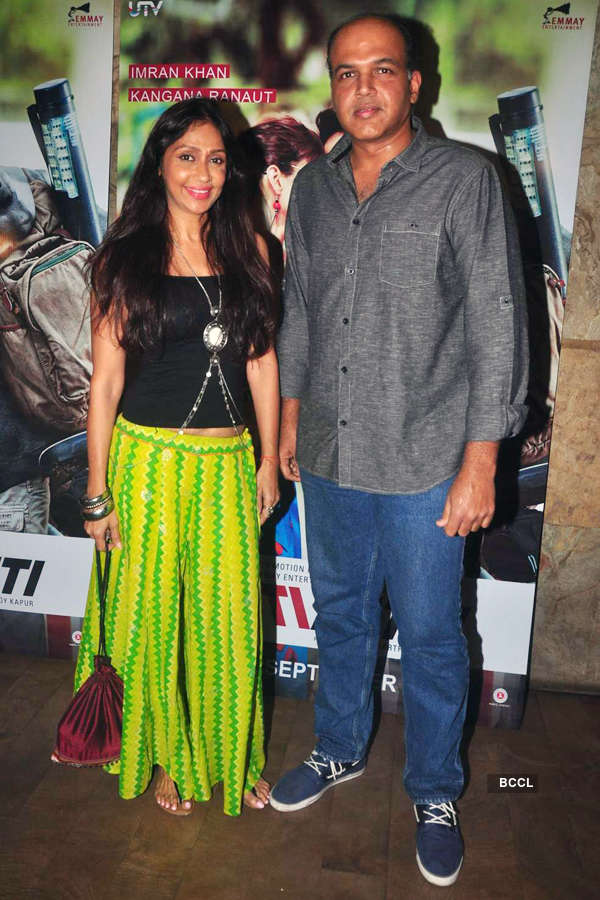 Sunita Gowariker and Ashutosh Gowariker during the screening