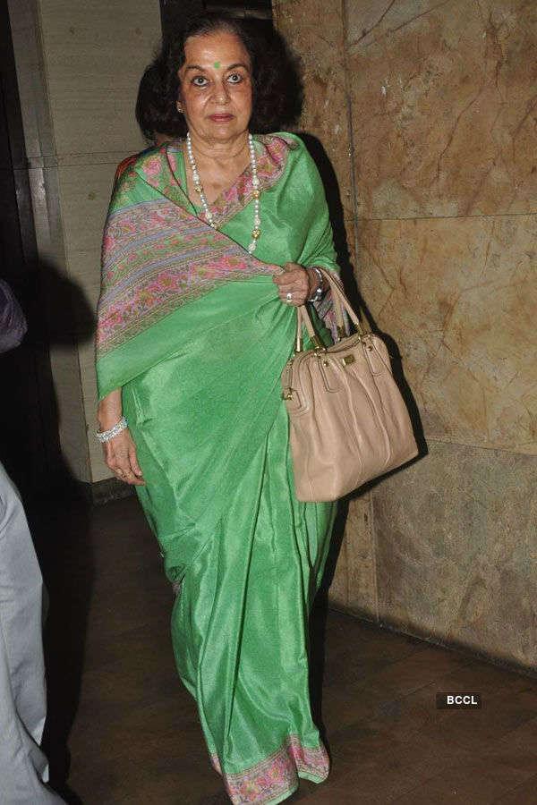 Asha Parekh during the screening