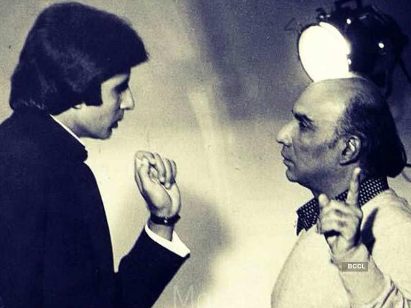 Photos of Amitabh Bachchan and Yash Chopra