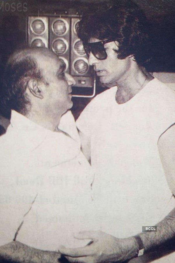 Yash Chopra and Amitabh Bachchan