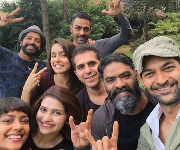 Rock On 2 team pose with others for a candid click