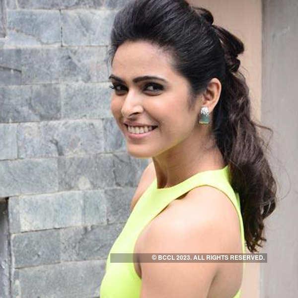 Madhurima promotes TV show