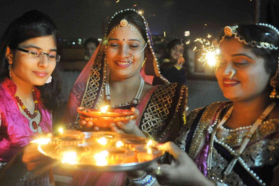 Widows celebrate Diwali