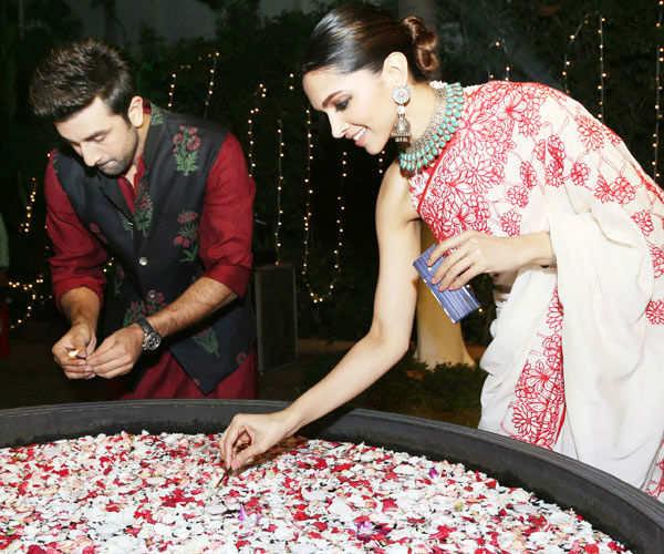 Ranbir Kapoor and Deepika Padukone celebrate Diwali