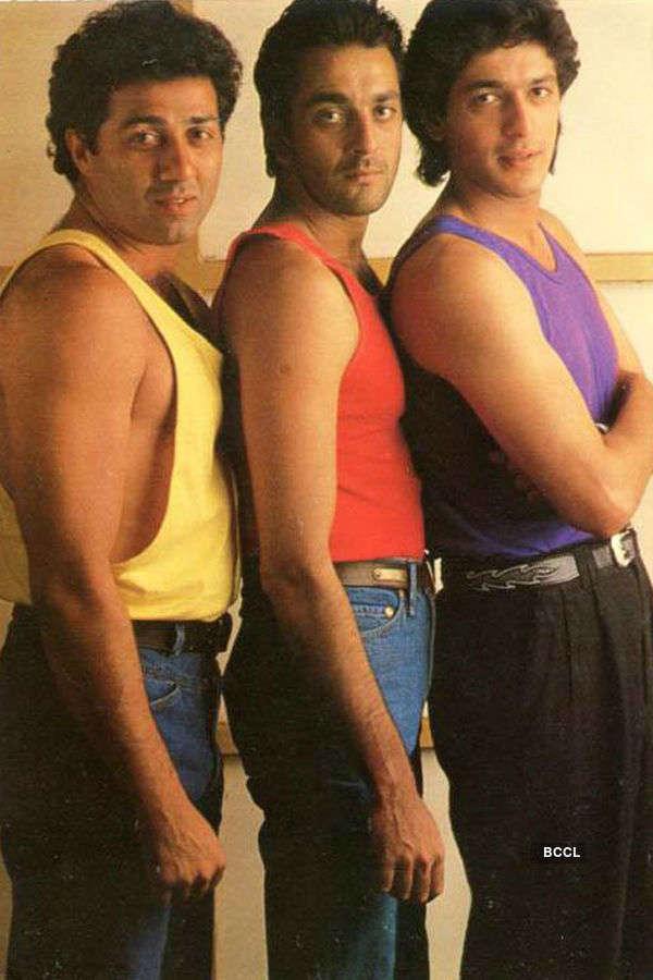 Sunny Deol, Sanjay Dutt and Chunky Pandey