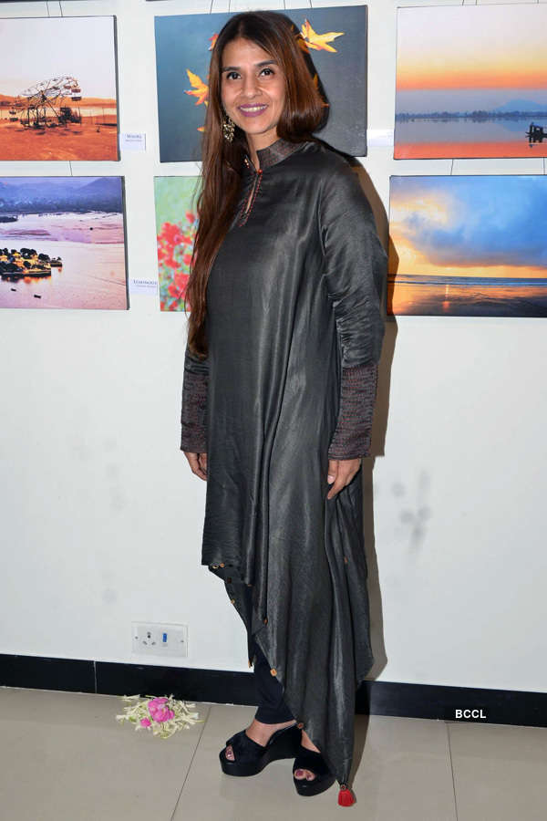 Fatima Agarkar at art exhibition