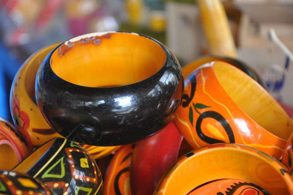 Go shopping at Channapatna Crafts Park