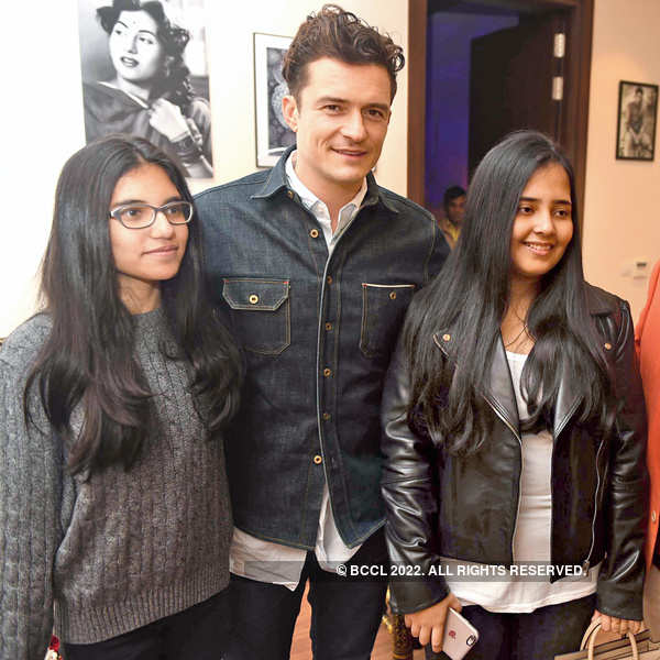 Disha Singh, Orlando Bloom And Drishti Singh During A