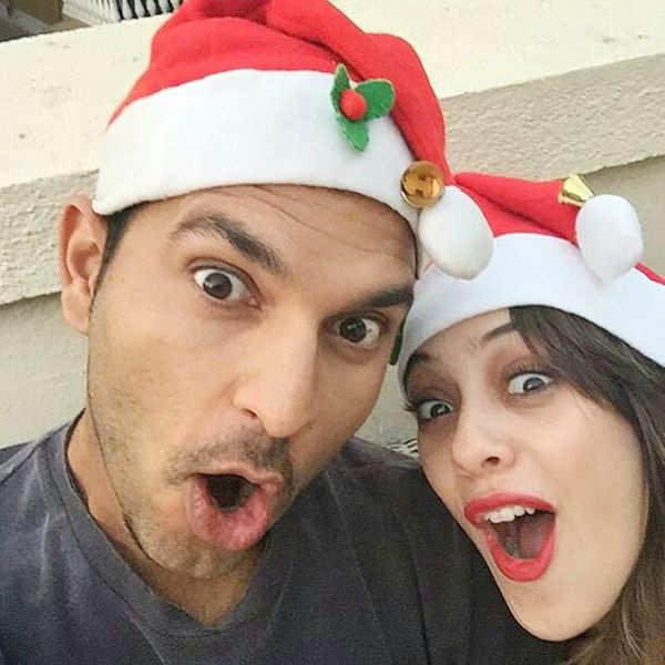 Yuvraj Singh and Hazel Keech pose for a candid Christmas selfie