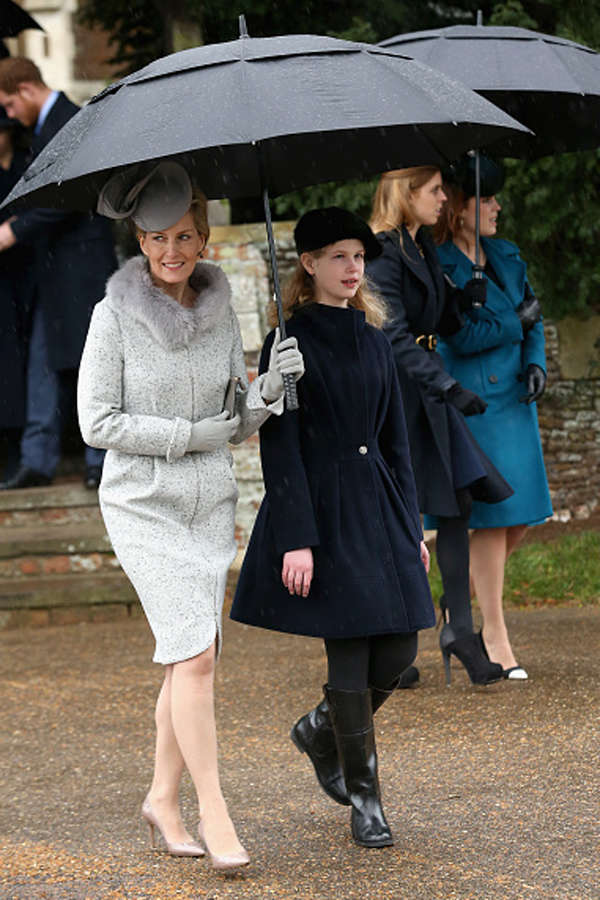 Royal family attends church service