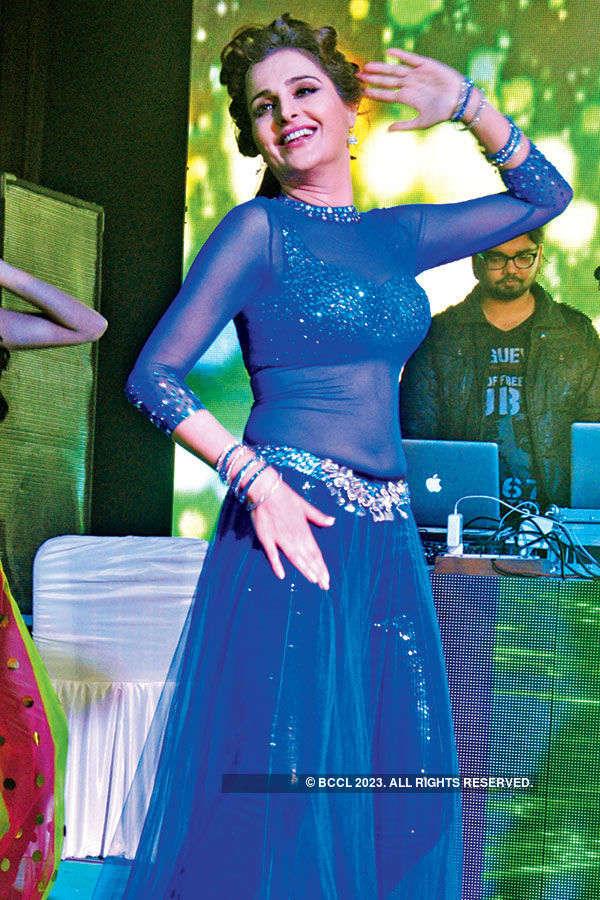 Monica Bedi parties in the city