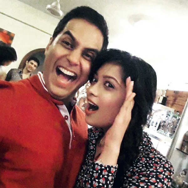 Aman Verma and Digangana Suryavanshi enjoying themselves