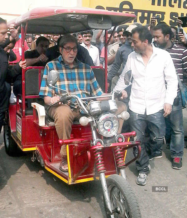 Big B hurts rib cage during TE3N shoot