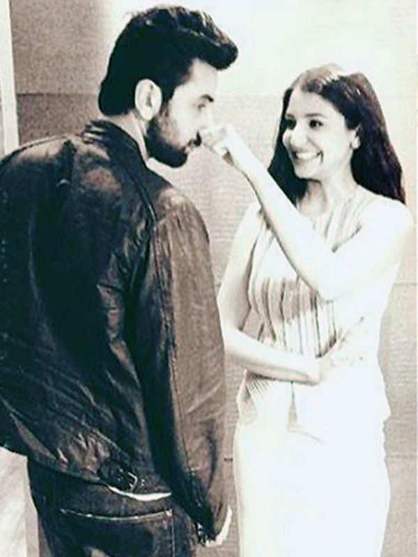 Ranbir Kapoor and Anushka Sharma were snapped bonding