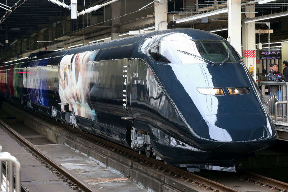 Bullet train ride (from Tokyo)