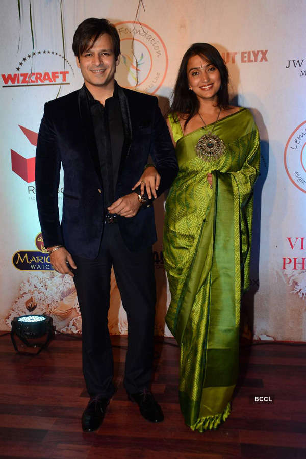 Vivek Oberoi And Priyanka Alva Oberoi During The Silver Jubilee Celebrations Of Fashion Designer Vikram Phadnis In Mumbai On January 16 2016 Photogallery