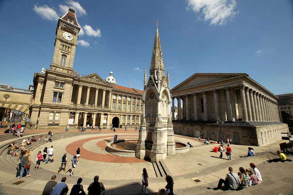 Admiring Birmingham's iconic buildings