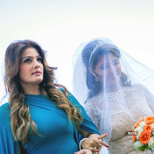 Raveena's younger daughter ties the knot