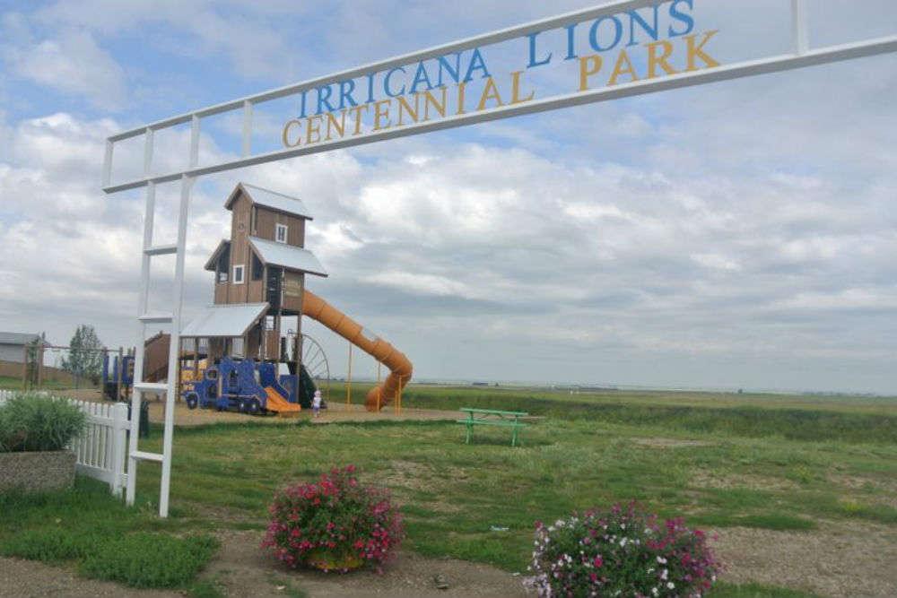 Irricana Grain Elevator and Train Playground