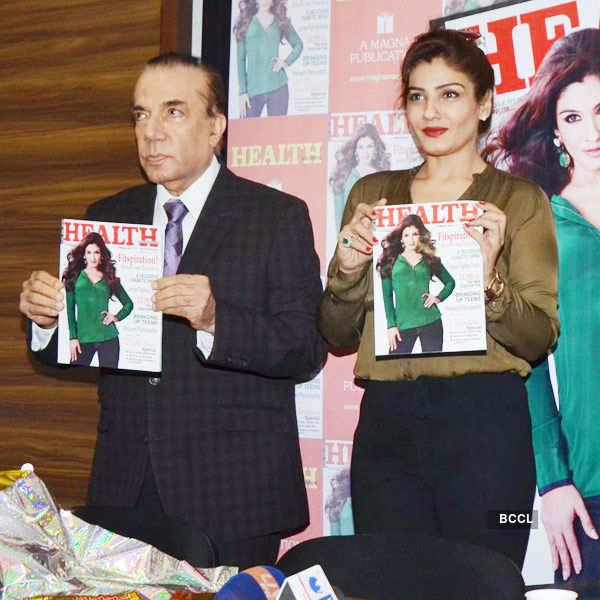 Raveena unveils magazine cover