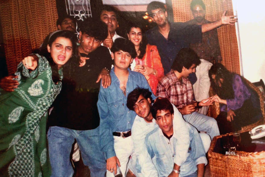 Ajay Devgn with his friends