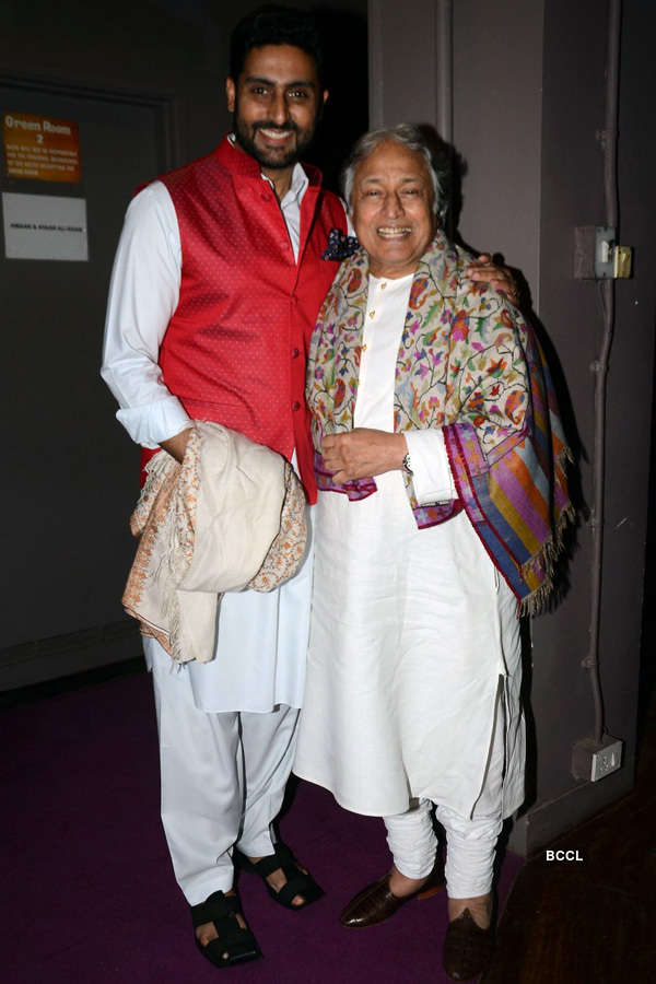 Abhishek, Jaya attend concert