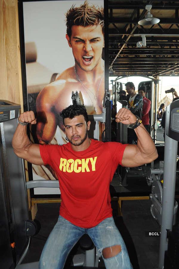 Sahil Khan's gym launch