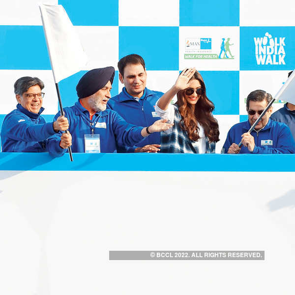 Sonam at walkathon