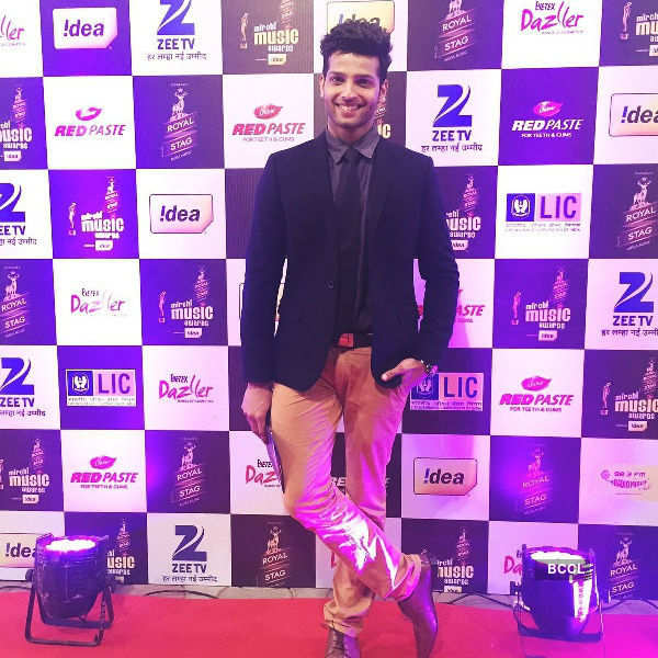 Rahul Rajasekharan at the Radio Mirchi music awards
