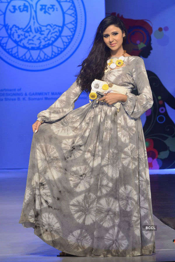 A Model Walks The Ramp During A Fashion Show Organised By Sophia College In Mumbai Photogallery