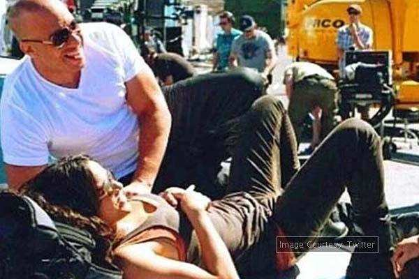 PIC: A playful Deepika Padukone with Vin Diesel on the sets of 'xXx'