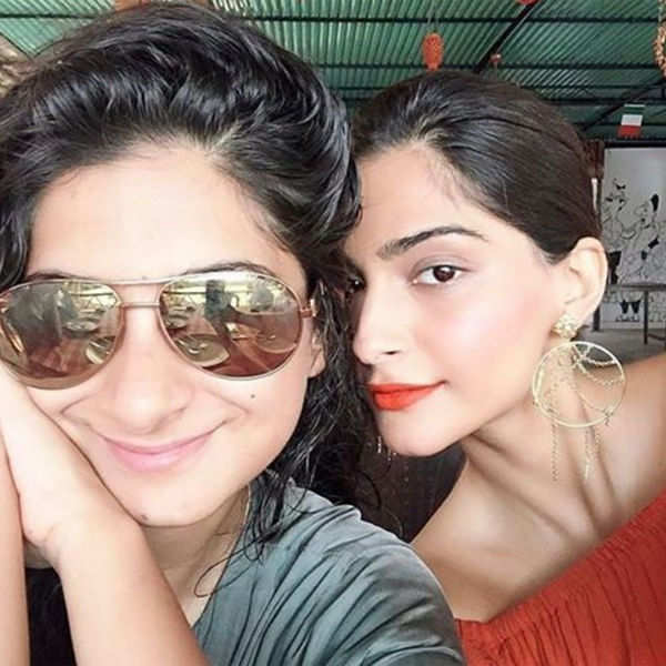Sonam Kapoor poses with her sister Rhea Kapoor
