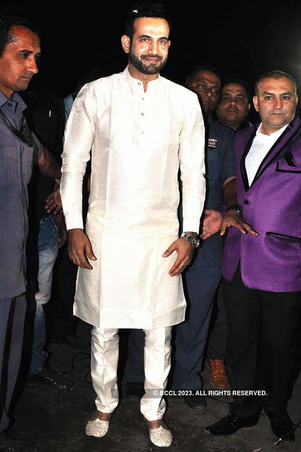 Irfan Pathan hosts wedding reception